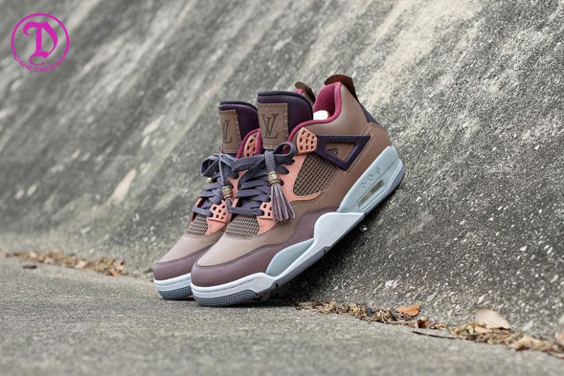 Air Jordan IV Patchwork Louis Vuitton Custom Sneakers 1
