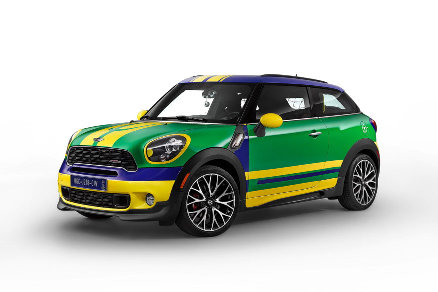 The MINI Paceman GoalCooper Special Edition for 2014 World Cup in Brazil 1