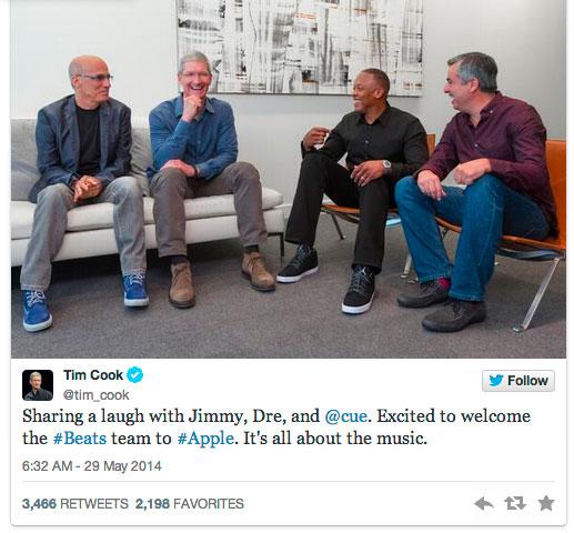 Apple 以30 億美元手工Beats Electronics 公司 1