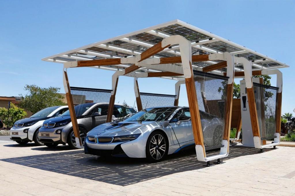 """BMW """"i solar charging carport"""" 太陽能車棚 2"""