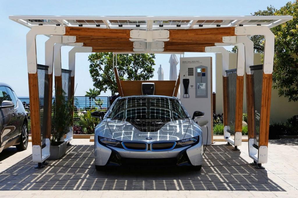 """BMW """"i solar charging carport"""" 太陽能車棚 4"""