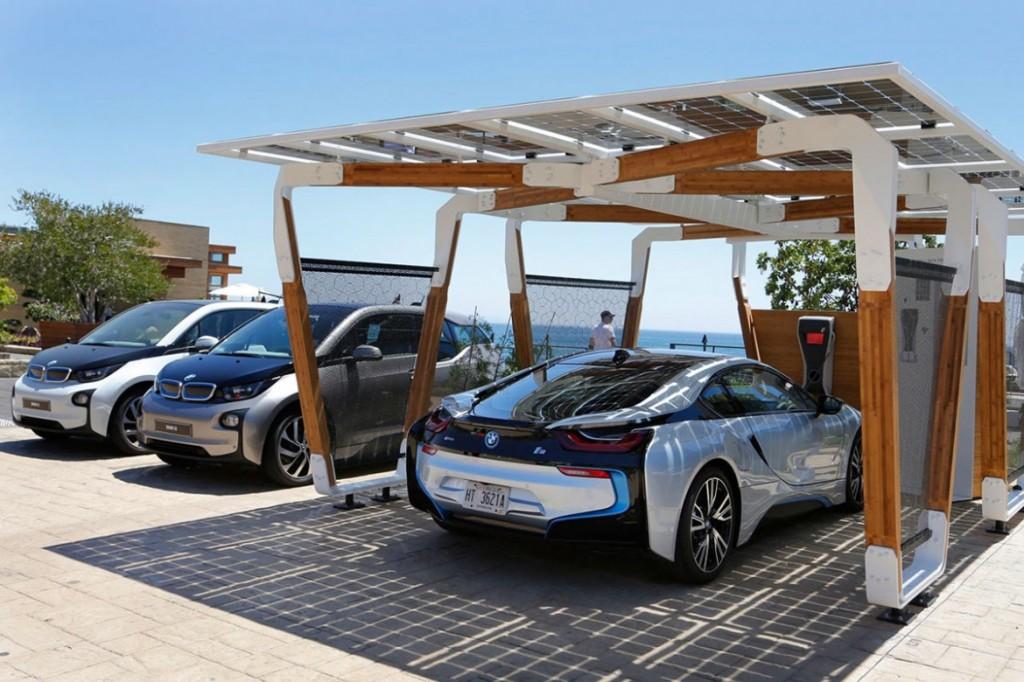 """BMW """"i solar charging carport"""" 太陽能車棚 5"""