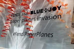 FENDI 和藝術組合Blue and Joy 合作打造門店櫥窗