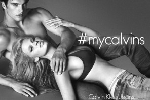 Matthew Terry 搭檔 Lara Stone 共同出鏡 Calvin Klein Jeans 2014 秋冬季度廣告硬照