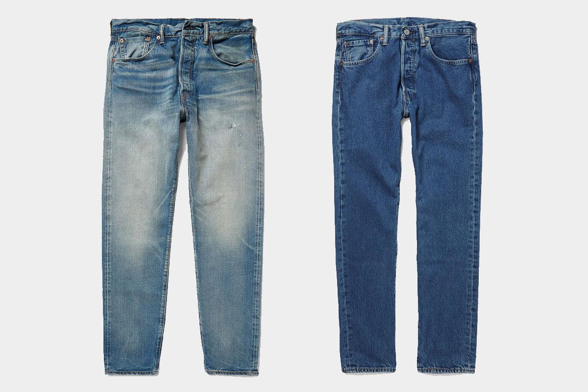 Levi 39 s x mr porter 501 ct jeans trendsfolio for Mister porter