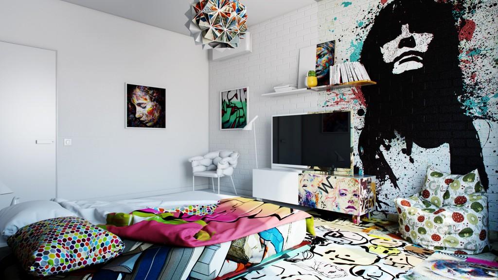 烏克蘭藝術家 Pavel Vetrov 打造衝突感 Hotel Room , 挑戰你我視覺神經 1