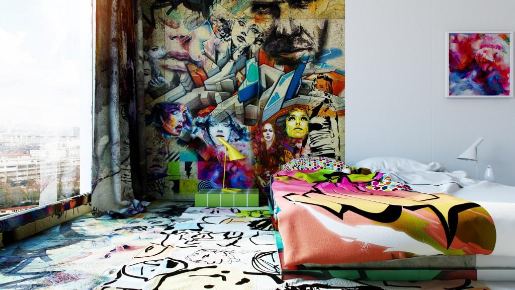 烏克蘭藝術家 Pavel Vetrov 打造衝突感 Hotel Room , 挑戰你我視覺神經 4