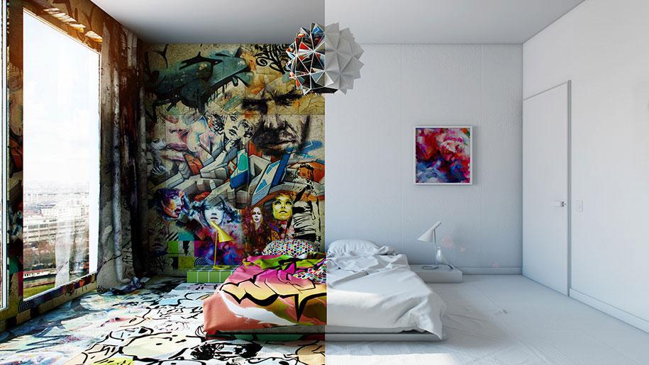烏克蘭藝術家 Pavel Vetrov 打造衝突感 Hotel Room,挑戰你我視覺神經 6