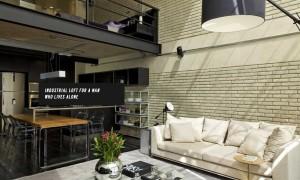 明亮而寬敞的工業風格住宅,這個複式loft 十分適合單身男士 1