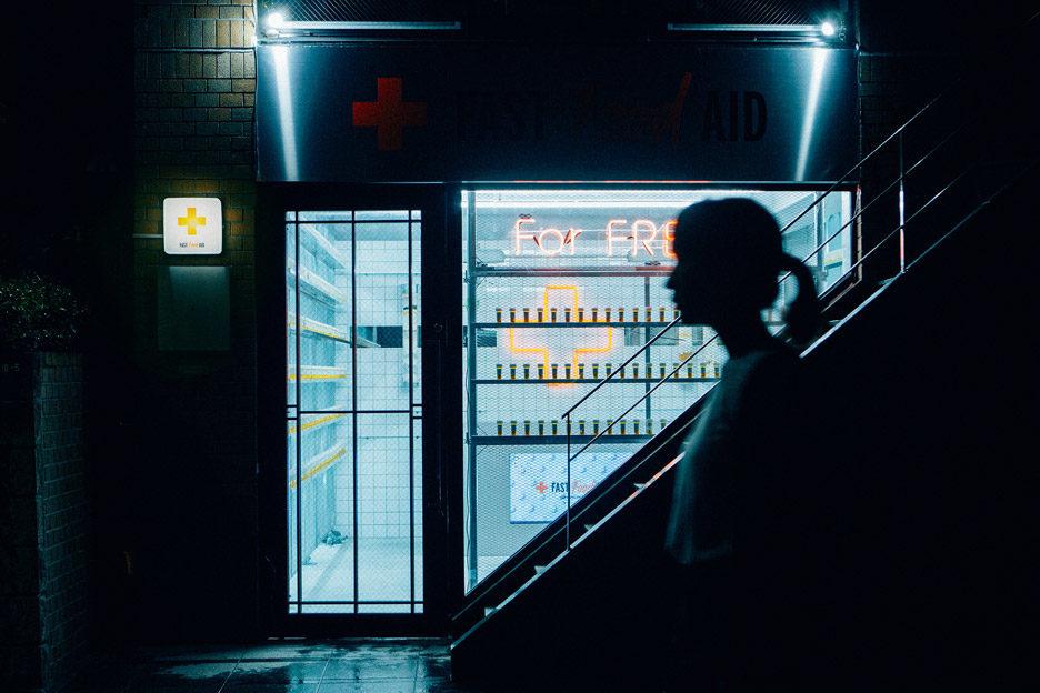 Fast Food Aid is a laboratory-like shop 7