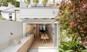 這是一個延伸至庭園的廚房,想必在其中烹饪一定惬意無比吧! 1