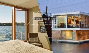 在西雅圖的這個Floating Home ,坐擁著Lake Union 的絕佳湖景 1