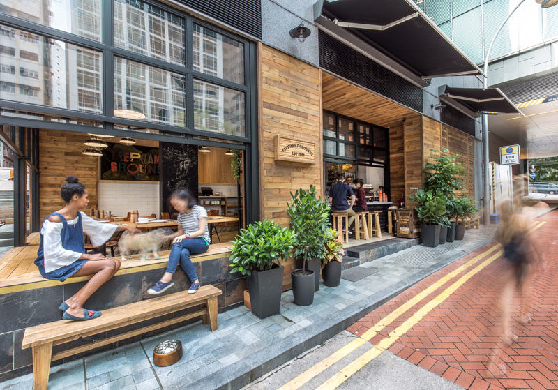 This new coffee shop in Hong Kong is designed to interact with the street 2