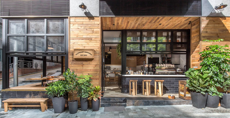 This new coffee shop in Hong Kong is designed to interact with the street 3