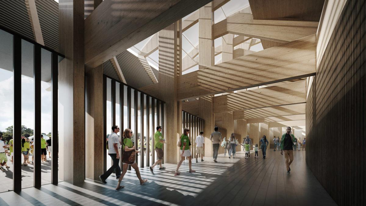 Zaha Hadid Architects to build world's first wooden football stadium 3